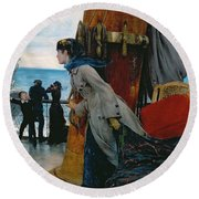Cross Atlantic Voyage Round Beach Towel by Henry Bacon