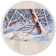 Cross Country Round Beach Towel