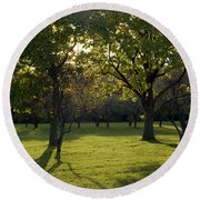Cross In The Trees Round Beach Towel