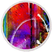 Crossing Over And Back Again Round Beach Towel