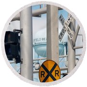 Crossing Signs Round Beach Towel
