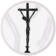 Crucifixion Of Christ Round Beach Towel