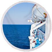 Cruise Ship Round Beach Towel