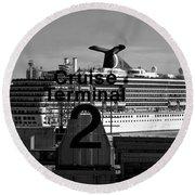 Cruise Terminal Two Round Beach Towel