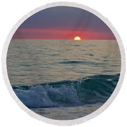 Crystal Blue Waters At Sunset In Treasure Island Florida 5 Round Beach Towel