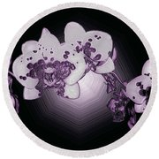 Crystal Butterfly Orchid Round Beach Towel