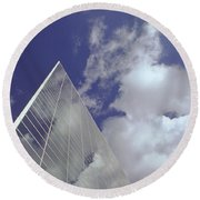 Crystal Cathedral 2 Round Beach Towel