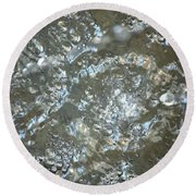 Crystal Clear Bubbles Round Beach Towel