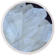 Crystal Cluster Round Beach Towel