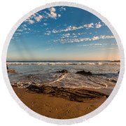 Crystal Cove At Sunset 2 Round Beach Towel