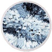 Crystal Flowers Round Beach Towel