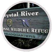 Crystal River Round Beach Towel