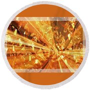 Crystallized - Digital Art Abstract Round Beach Towel