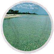 Cuban Paradise Round Beach Towel