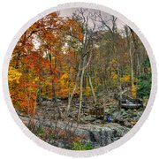 Cunningham Falls Viewing Platforms Round Beach Towel
