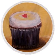 Cupcake Round Beach Towel