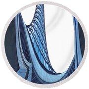 Curves - Archifou 42 Round Beach Towel