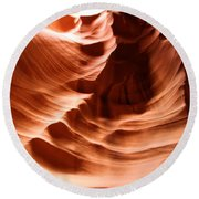 Curves In The Canyon Round Beach Towel