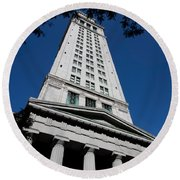 Custom House Boston Round Beach Towel