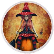 Cutest Little Witch Round Beach Towel