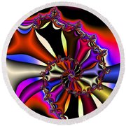 Cyclone Of Color Round Beach Towel