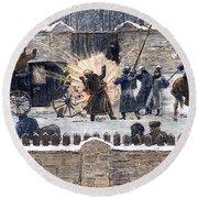 Czars Assassination, 1881 Round Beach Towel