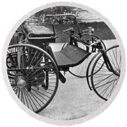 Daimler Automobile, 1889 Round Beach Towel