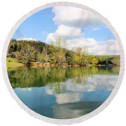 Dale Hollow Tennessee Round Beach Towel