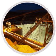 Hoover Dam Travellers Round Beach Towel