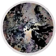 Damask Tapestry Round Beach Towel