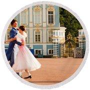 Dance At Saint Catherine Palace Round Beach Towel