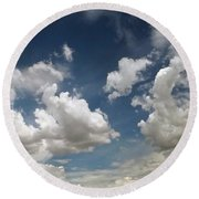 Dance Of The Clouds - Series Round Beach Towel