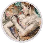 Dancer Round Beach Towel by Edgar Degas