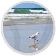Dancing On The Beach Round Beach Towel