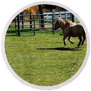 Dancing Pony Round Beach Towel