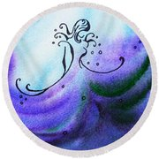 Dancing Water Vi Round Beach Towel