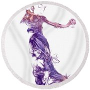Dancing With A Stranger Round Beach Towel