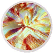 Dancing With Fire Round Beach Towel