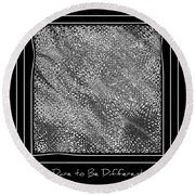 Dare To Be Different - Black And White Abstract Round Beach Towel