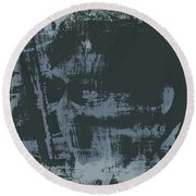Dark Glasses Round Beach Towel