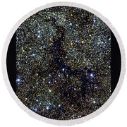 Dark Nebula, G11.11-0.12, Infrared Image Round Beach Towel