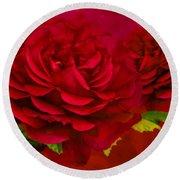Dark Pink Rose Round Beach Towel