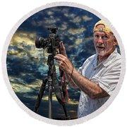 Dave Bell - Photographer Round Beach Towel