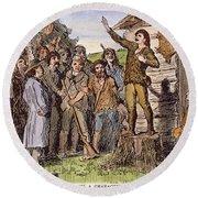 Davy Crockett (1786-1836) Round Beach Towel