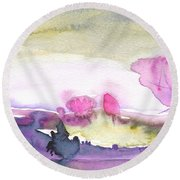 Dawn 31 Round Beach Towel