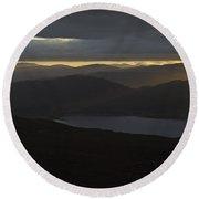 Dawn Breaks Over Loch Kishorn Round Beach Towel