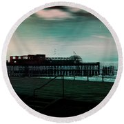 Dawn On The Seafront At Hastings Round Beach Towel