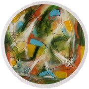 Day And Night Two Round Beach Towel