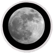 Day Before The Full Moon Round Beach Towel