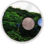 Day Lights Round Beach Towel